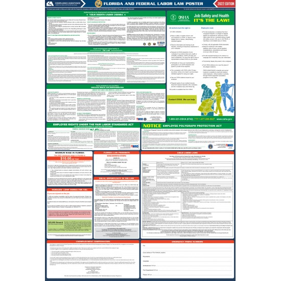 2021 florida state and federal all in one labor law poster
