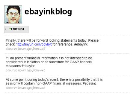 ebay twitter disclaimers