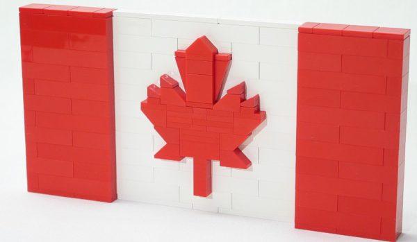 canada flag bricks