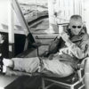 Astronaut John Glenn Relaxing on Deck