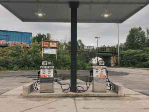 empty gas station