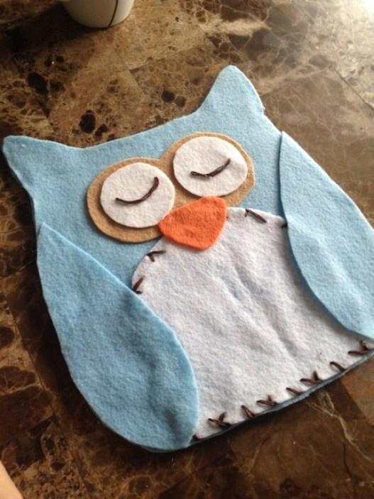 Night Owl Felt Pillows- Sewless
