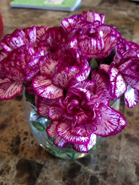 purple flowers stage your home for sale
