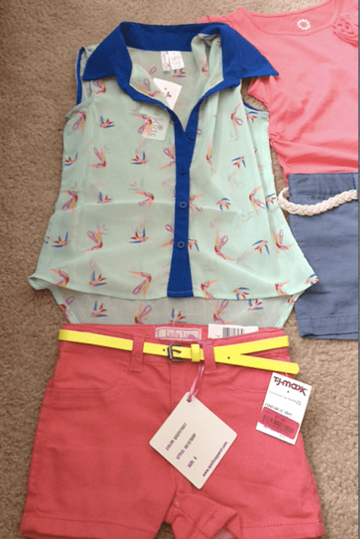 TJ Maxx- Summer Haul- 2013 Girls Style Trends-neon -hi-low shirt