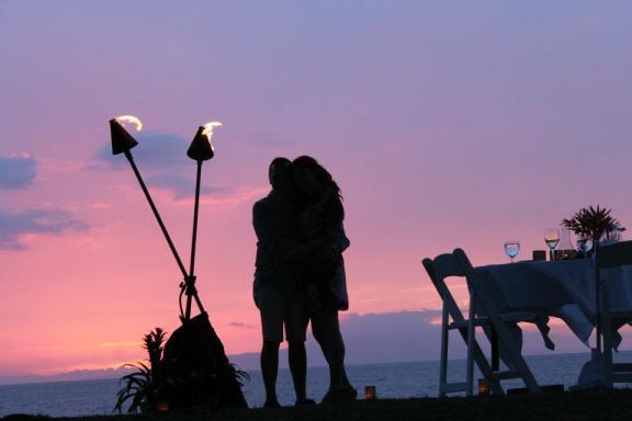 Maui's Most Romantic Dinner Spot- Wailea Beach Marriott Cabana Dinner Dining
