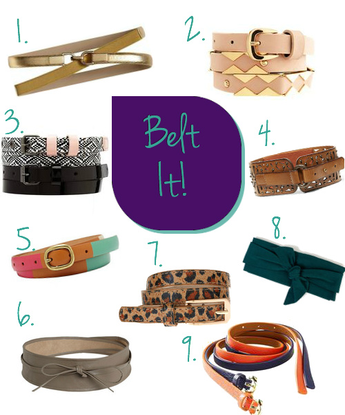 Transform an outfit with belts