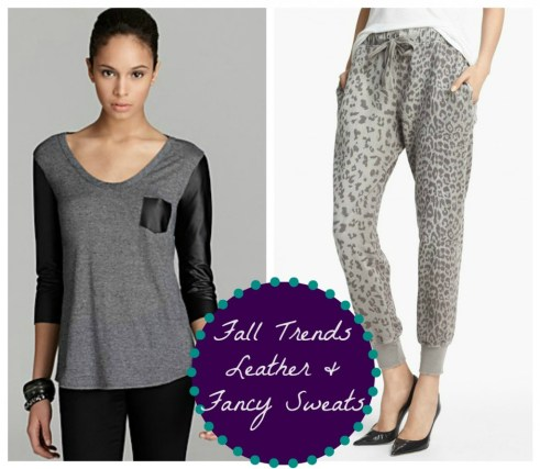 Fall Trends- Leather Fancy Dressy SweatPants SweatShirt