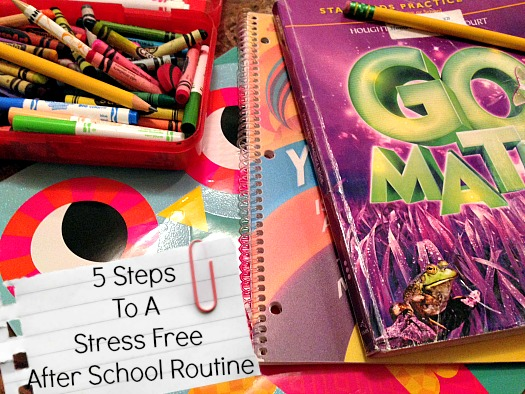 How to create a stress free after school routine