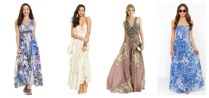 Maxi-dresses for women with pear shape body