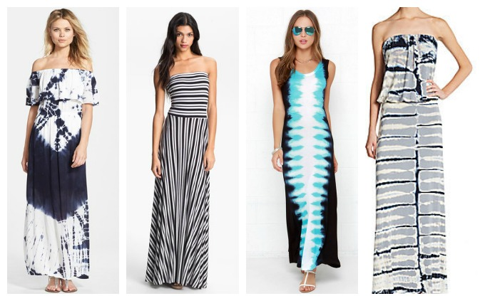 Maxi-dresses for women with wide shoulders