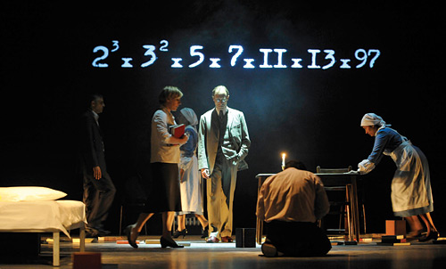 A scene from Complicité's A Disappearing Number