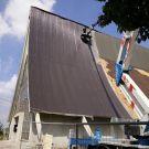 Ingenti danni al tetto della chiesa di Dragoncello.