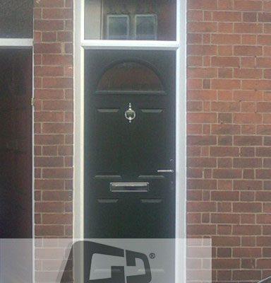 Green 4 Panel 1 Arch Composite Door