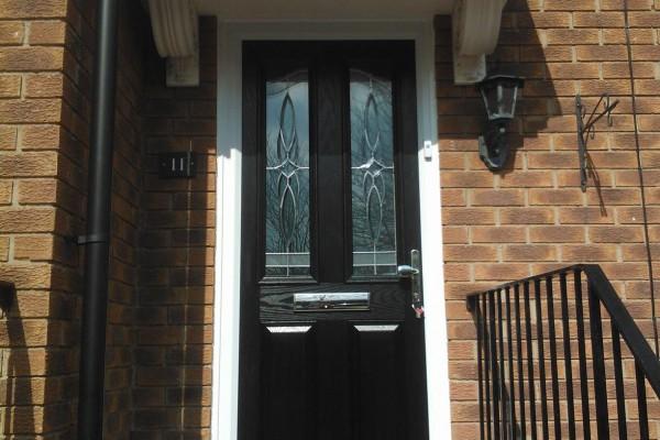 black 2 panel 2 arch Composite Door 5