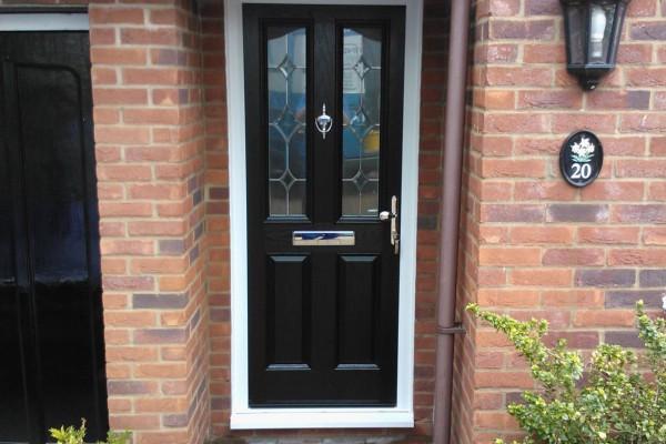 black 2 panel 2 arch Composite Door 6