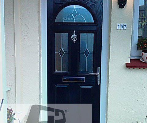 black 2 panel 2 square 1 arch 3 Composite Door