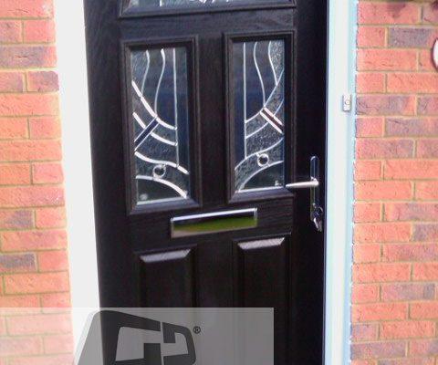black 2 panel 2 square 1 arch Composite Door 4