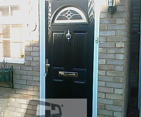black 4 panel 1 arch Composite Door 4