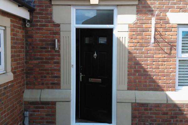 black 4 panel 2 square Composite Door 6