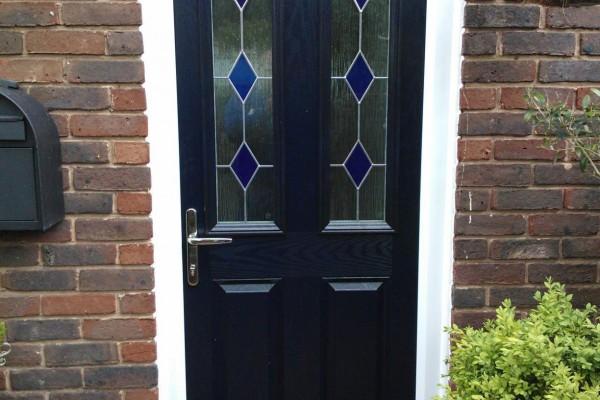 blue 2 panel 2 square Composite Door 3