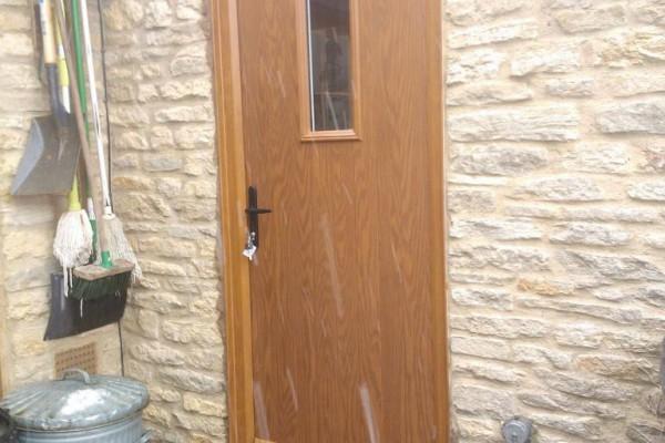 oak 1 sqaure Composite Door