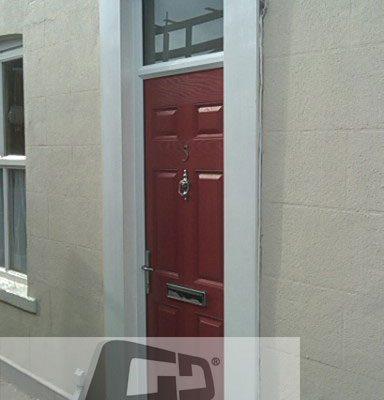 red 6 panel Composite Door