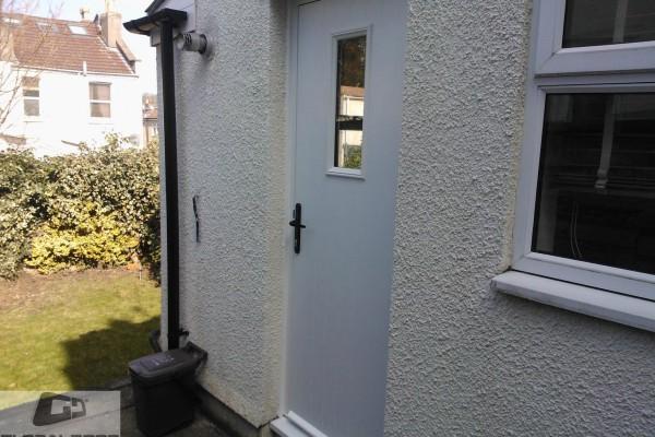 white 1 square Composite Door 2