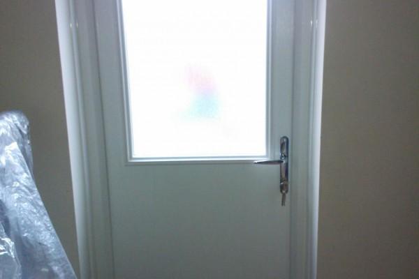 white 2 panel 1 square Composite Door internal
