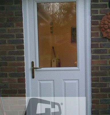 white 2 panel 1 squre Composite Door 2