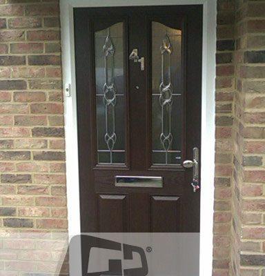woodgrain 2 panel 2 arch Composite Door