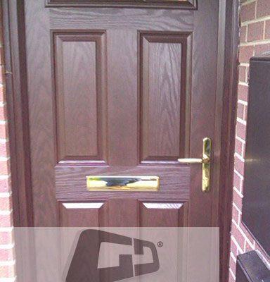 woodgrain 4 panel 2 square Composite Door