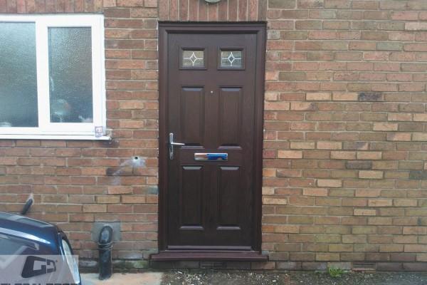 woodgrain 4 panel 2 square composite door 3