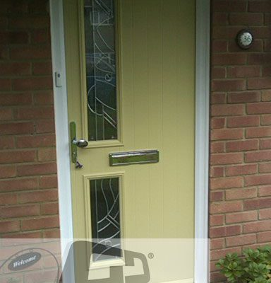 yellow twin side composite door