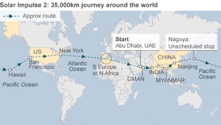 Solar-Impulse-flight-path