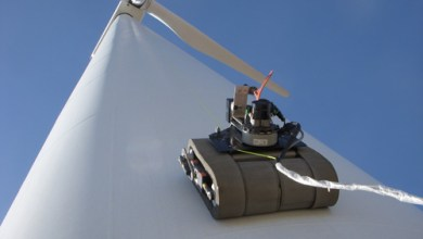 Photo of Robot Scales Wind Turbines Looking for Cracks