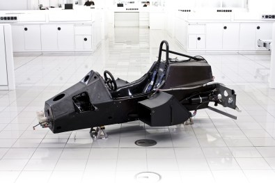 Picture of the MP4/1's advanced monocoque design