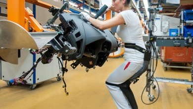 Photo of Audi Creates Carbon Fibre Exoskeleton for Its Workers
