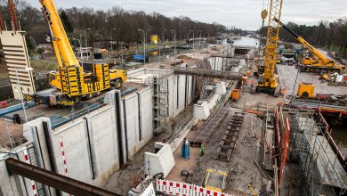 Photo of Worlds Largest Composite Lock Gates Installed in Tilberg