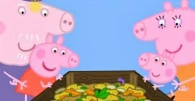 Peppa Pig enseña a los niños cómo hacer compost (o mejor dicho, vermicompost)