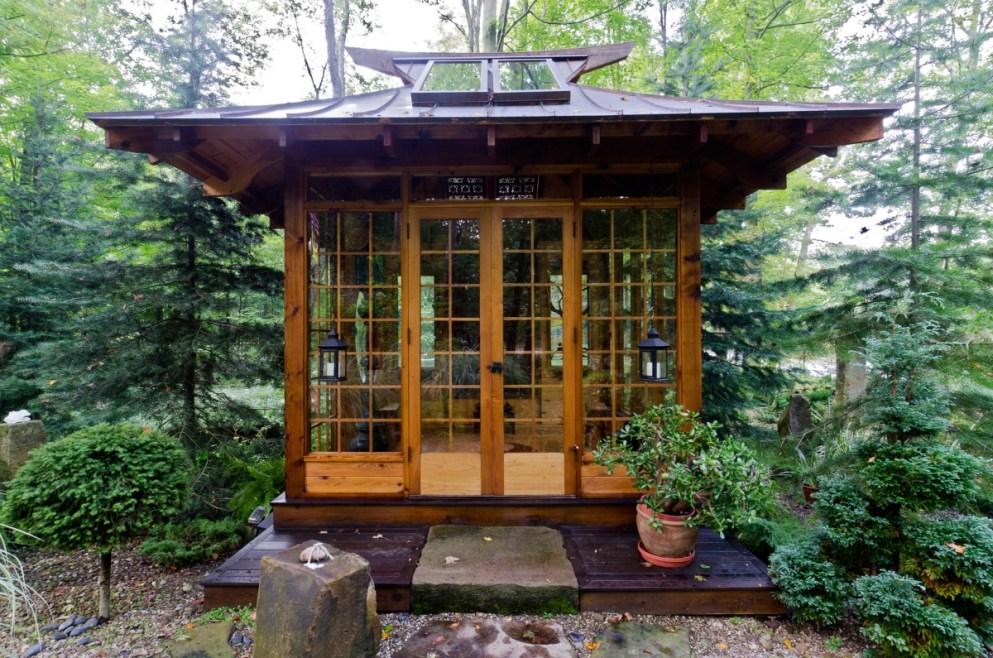 Chashitsu o casa tradicional para la ceremonia del té en Japón