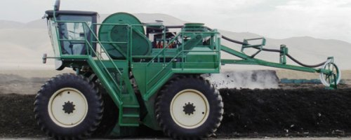 Maquinaria para el compost de alperujo