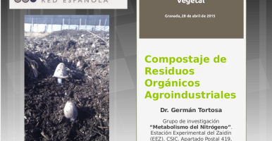 "Clase ""Compostaje de residuos agroindustriales"" en el LII Curso Internacional de Edafología y Biología Vegetal (Granada, 2015)"