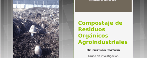 """Clase """"Compostaje de residuos agroindustriales"""" en el LII Curso Internacional de Edafología y Biología Vegetal (Granada, 2015)"""