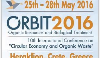 "ORBIT 2016, 10th International Conference on ""Circular Economy and Organic Waste"", 25-28 of May 2016  Heraklion, Crete, Greece"