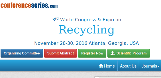 3rd World Congress and Expo on Recycling