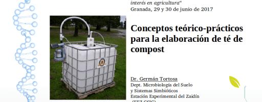 """Clase """"Conceptos teórico-prácticos para hacer té de compost"""" (2ª edición, julio de 2017)"""