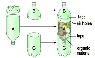 "Taller de compostaje para estudiantes de secundaria ""Microcompostaje en botellas"""