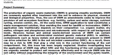 Oferta predoctoral para trabajar sobre el impacto de los residuos orgánicos en los suelos