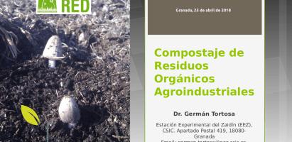 """Clase """"Compostaje de residuos agroindustriales"""" en el LV Curso Internacional de Edafología y Biología Vegetal (Granada, 2018)"""