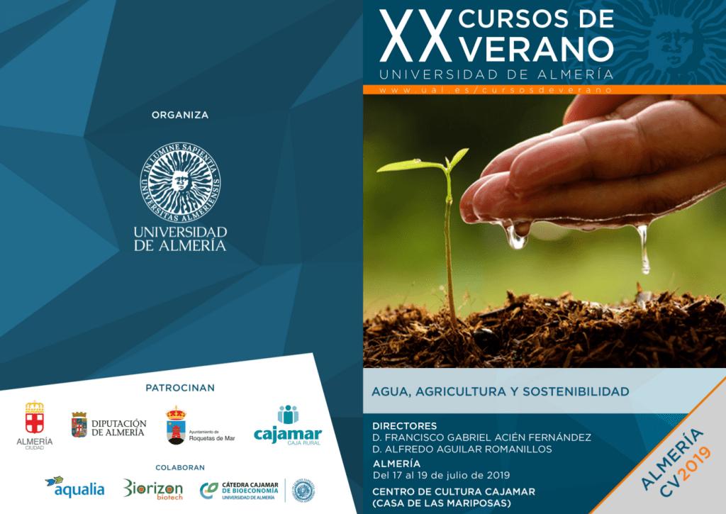La Universidad de Almería (España) organiza un interesante curso sobre el uso del agua en la agricultura.